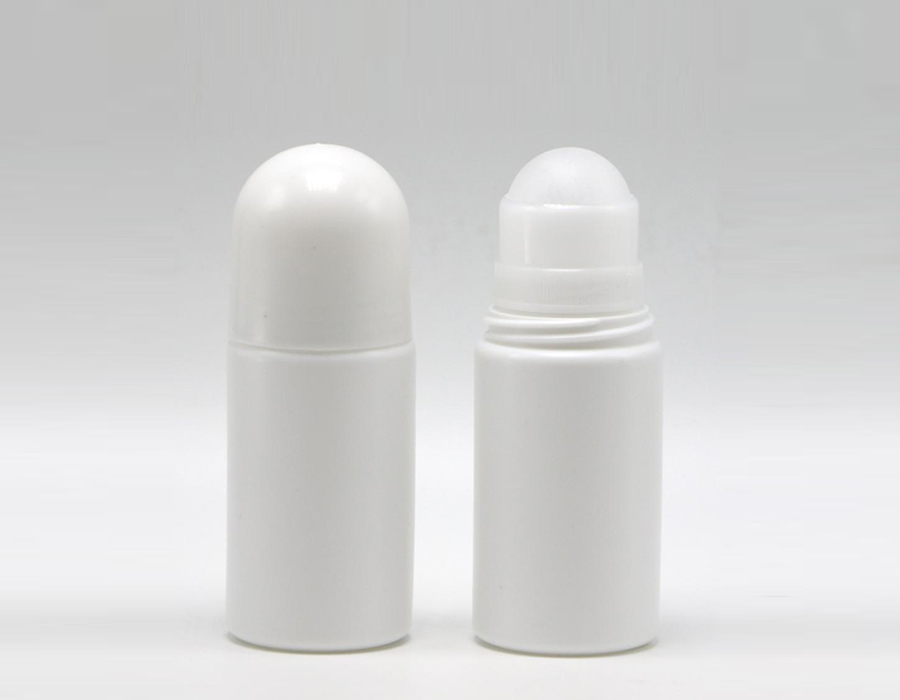 cosmetic use plastic material 50ml ball roll on bottle